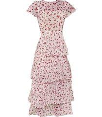 pink brynn tiered gown