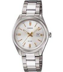 reloj kcasltp 1302d 7a2 casio-plateado