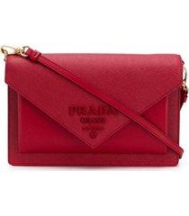 prada bolsa transversal envelope - vermelho
