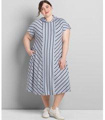 lane bryant women's livi striped hooded dress 22/24 night sky