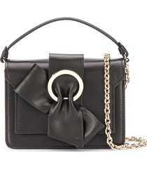 paule ka bow detail crossbody bag - black