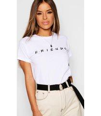 petite gelicenseerd friends t-shirt, white