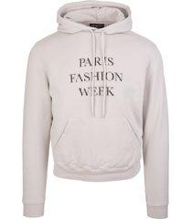 balenciaga man grey fashion week shrunk hoodie