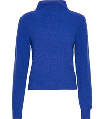 alli knit t-neck gebreide trui blauw second female