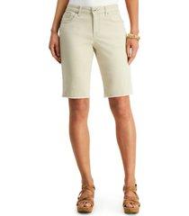 style & co petite raw-hem bermuda shorts, created for macy's