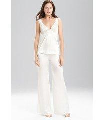 natori key wide leg pants, women's, 100% silk, size s