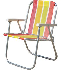 cadeira botafogo varanda alta, alumínio, cores sortidas - 0047