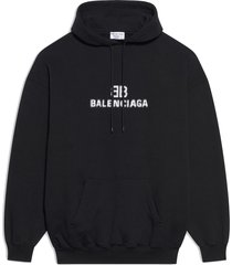 classic cotton hoodie black
