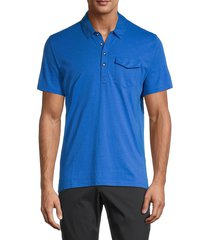 original penguin men's four-buttoned cotton polo - bright white - size s