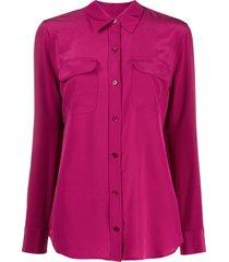 equipment straight-fit shirt - pink