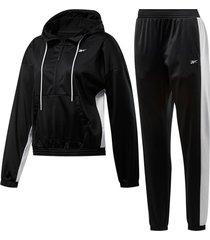 conjunto negro reebok linear logo hoodie ts