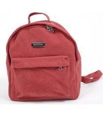 mochila roja doll fins