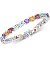 multi-gemstone tennis bracelet (17-3/8 ct. t.w.) in sterling silver