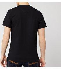 barbour international men's essential large logo t-shirt - black - xxl