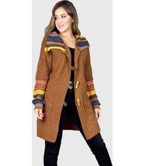 abrigo  de lana hippie chic café enigmática bóutique