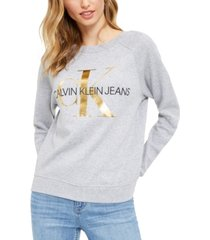 calvin klein jeans french terry logo sweatshirt