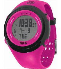 reloj de pulso gps fit sg100 soleus-fucsia-negro