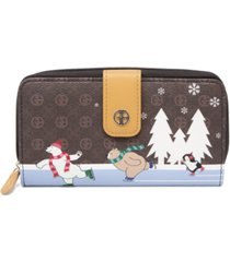 giani bernini signature skating bears all in one wallet, created for macy's