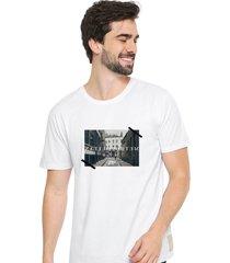 camiseta sandro clothing memory branco - branco - masculino - dafiti