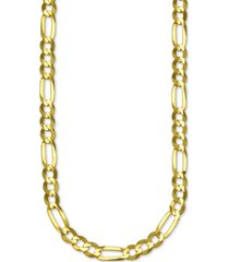 """italian gold figaro link 24"""" chain necklace (6mm) in 14k gold"""