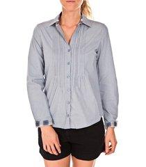 overhemd tom tailor chemise beatrix bleue