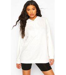 oversized hoodie, white
