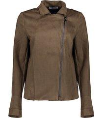 geisha 15595-70 550 biker jacket suedine army