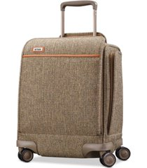 "hartmann tweed legend 16.5"" underseat carry-on spinner suitcase"