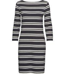 d1. striped dress knälång klänning multi/mönstrad gant
