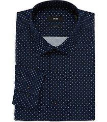 jenno slim-fit patterned dress shirt