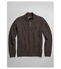 reserve tailored fit wool-blend textured mock neck men's sweater - big & tall