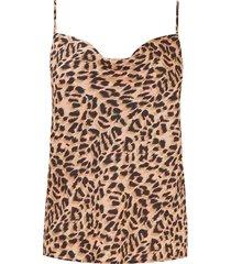 jurk sjaalkraag en dierenprint