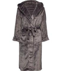 decoy long robe w/hood morgonrock grå decoy