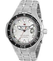 reloj technomarine modelo tm-118072 plata hombre