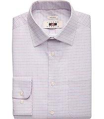 joseph abboud burgundy check modern fit dress shirt