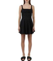 giovanni bedin black godet dress
