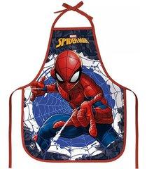 avental escolar dac decorado spider-man