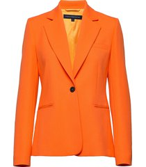 adisa sundae sutng tlrd jckt blazer orange french connection