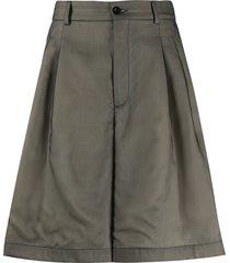 maison margiela oversized darted tailored shorts - grey