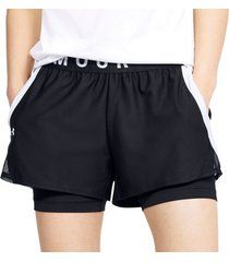 korte broek under armour play up 2-in-1 shorts women