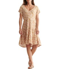 women's lucky brand tiered knit dress, size x-large - none