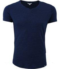 ob-v denim tailored fit v-neck t-shirt