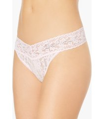 "hanky panky ""bridesmaid"" original-rise sheer lace rhinestone thong 481131"