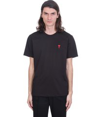 ami alexandre mattiussi ami de coeur t-shirt t-shirt in black cotton