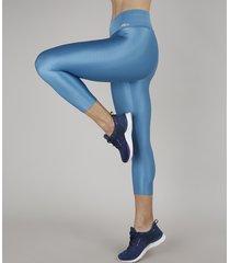 calça corsário feminina esportiva ace texturizada azul claro