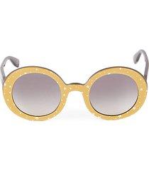 48mm star-print round sunglasses