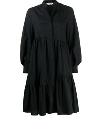 dorothee schumacher oversized poplin tiered dress - black