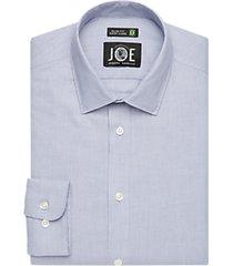joe joseph abboud navy textured slim fit dress shirt