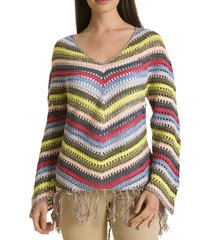 sweater crochet azul rockford