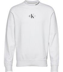 center monogram crew neck sweat-shirt trui wit calvin klein jeans